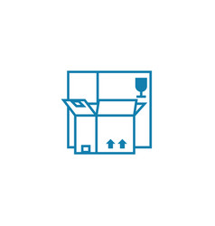 package for merchandise linear icon concept vector image