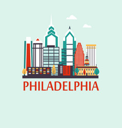 Philadelphia travel background vector