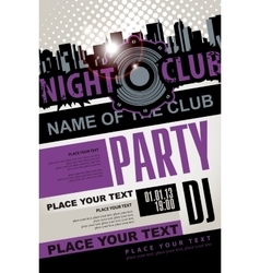 Playbill for the musical party in night club vector