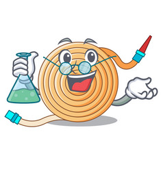 Professor garden water hose cartoon vector