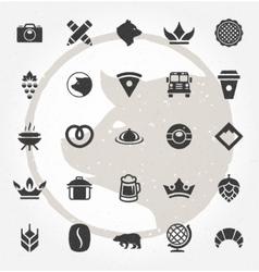 Retro Hand Drawn Logos Design Elements Logos vector