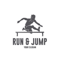 Run jump sport vector