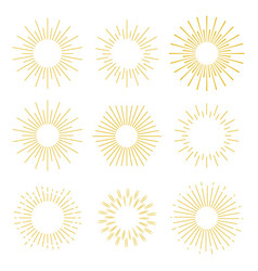 set abstract sunbursts vintage explosion a vector image