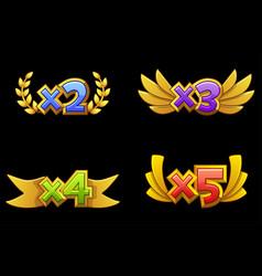 set isolated bonus number for online casino vector image