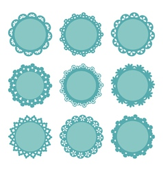 Set of lacy frames vector