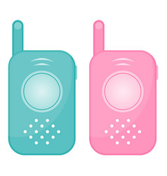 Set of two baby monitors isolated on a white vector