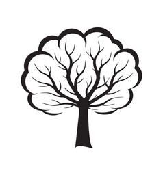 shape of black tree vector image