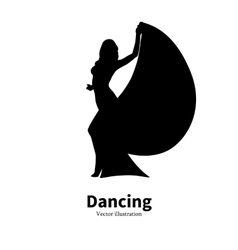 Silhouette dancing girl Dancer Bollywood dance vector image
