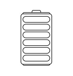 Single battery icon image vector