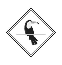 Single toucan emblem icon vector