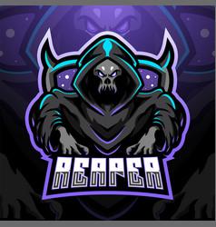 Skull reaper logo mascot vector