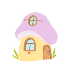 small house made from mushroom fairytale fantasy vector image