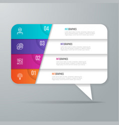 Speech bubble shaped infographic design 4 options vector