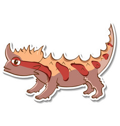 sticker design with thorny devil lizard isolated vector image