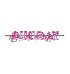 Sunday label in neon light icon vector