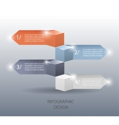 Template for infographic or web design vector