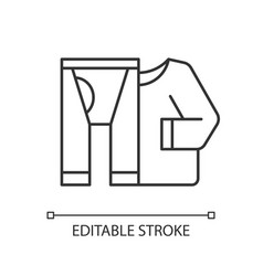 thermal underwear linear icon vector image