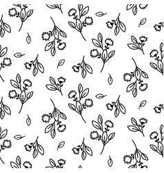 tiny floral seamless simple pattern vector image