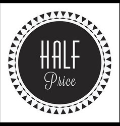 Vintage circle half price image vector