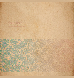 vintage old paper texture vector image vector image