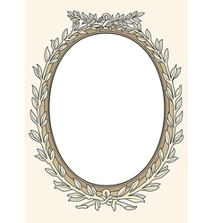 vintage photo frame ornamental vector image