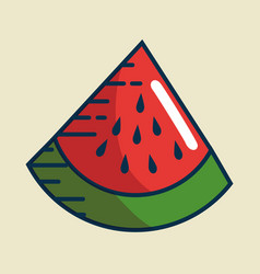 Watermelon fresh fruit handmade drawn vector