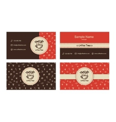 Bakery business cards template with logo vector