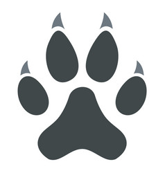 cat paw icon isolated vector image vector image