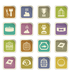 goods for pets icons set vector image vector image