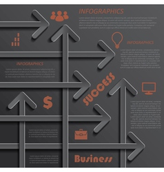 Modern template infographics design for business vector image vector image