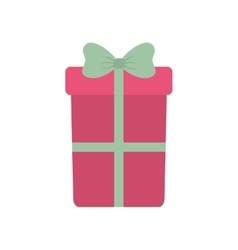 pink big gift box with bow vector image