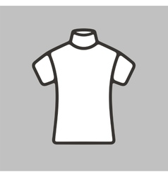 Short sleeve turtleneck icon vector image