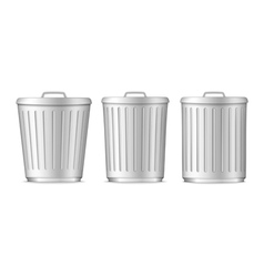 Trash Cans vector image