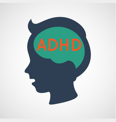 adhd attention deficit hyperactivity disorder vector image