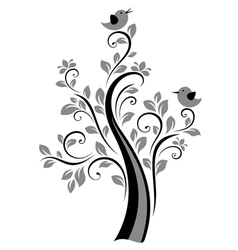 Birds on trees vector image vector image