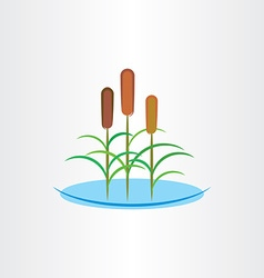 cattails clip art icon vector image vector image
