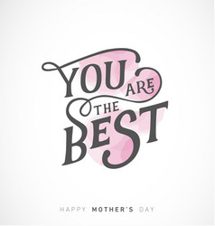mothers day greeting card with pink elements vector image vector image