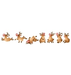 Reindeer Collection vector image