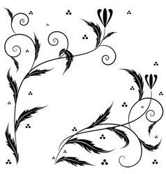 Retro floral art vector image vector image