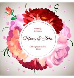 Wedding invitation Vintage card with garden vector image