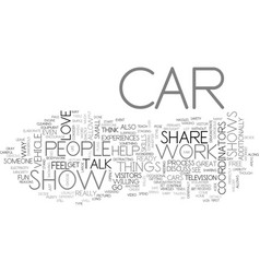 what can you do at car shows text word cloud vector image