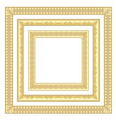 3 golden frames vector image