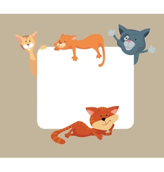 Cats around frame vector image vector image