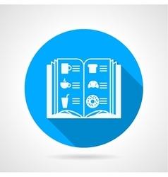 Contour icon for cafe menu vector image