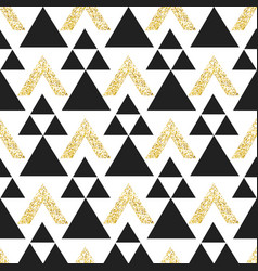 gold geometric triangle background abstract vector image vector image