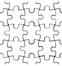 puzzle jigsaw seamless pattern vector image