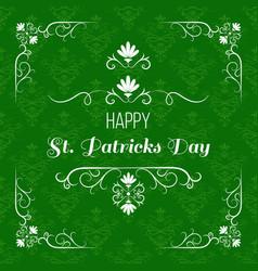 saint patrick s day greeting card design vector image vector image