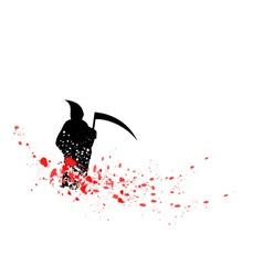 silhouette reaper vector image vector image