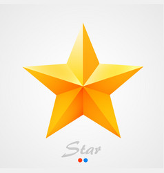 golden star on orange background vector image vector image