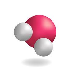 molecule water h2o symbol vector image